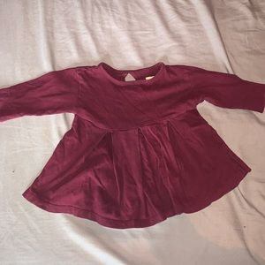(3/$20) Mini Mioche burgundy long sleeve tee dress